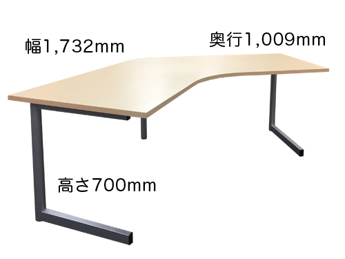 ブーメラン型デスクSサイズ(L字デスク・120°天板)商品画像
