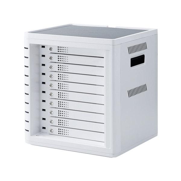 iPad・タブレット収納個別鍵付きキャビネット(10台収納・ホワイト)商品画像