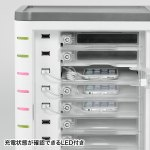 スマートフォン個別鍵付き充電キャビネット(10台収納)商品画像