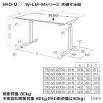 電動上下昇降デスク(W1000×D700mm・濃い木目)商品画像