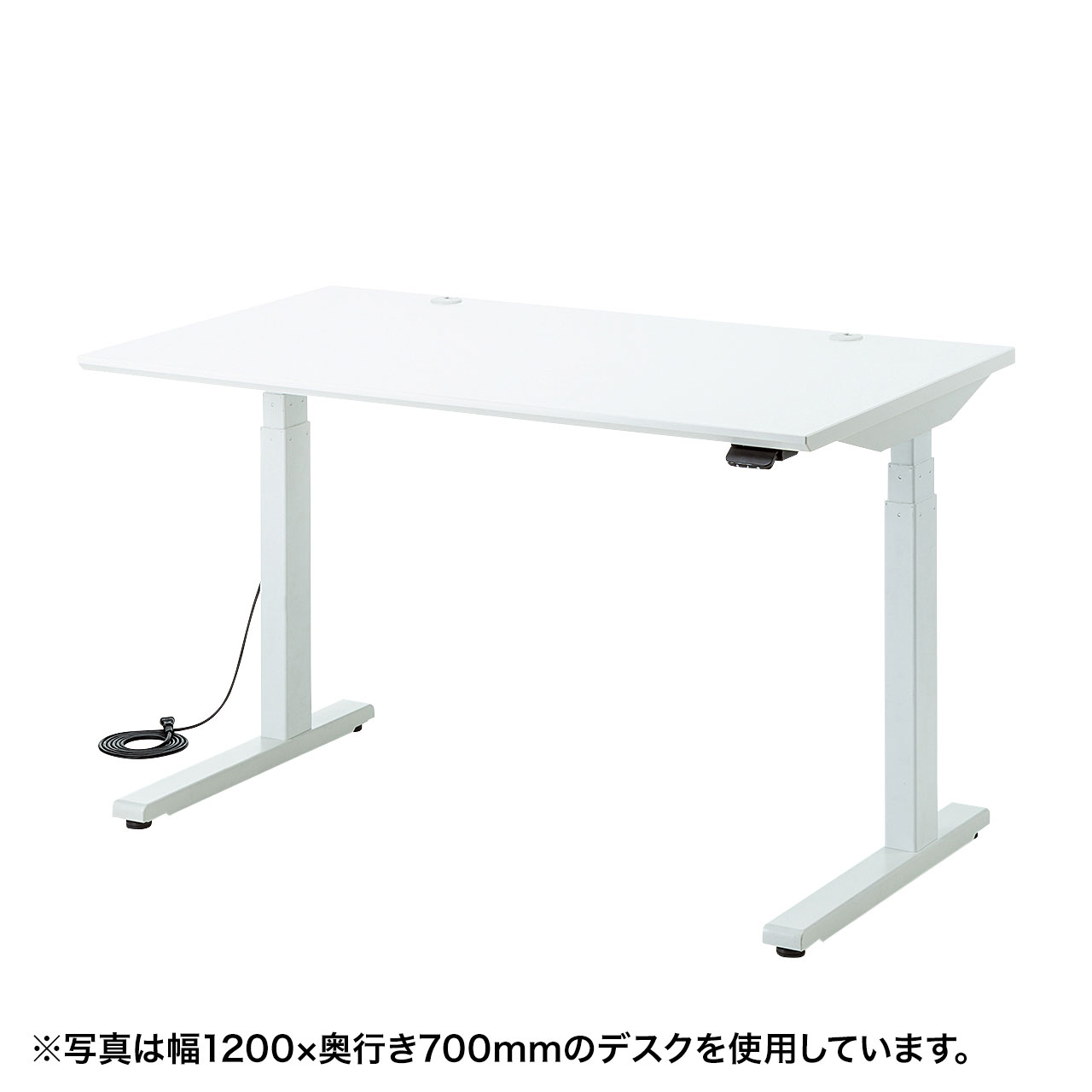 電動上下昇降デスク(W1400×D700mm・ホワイト)商品画像