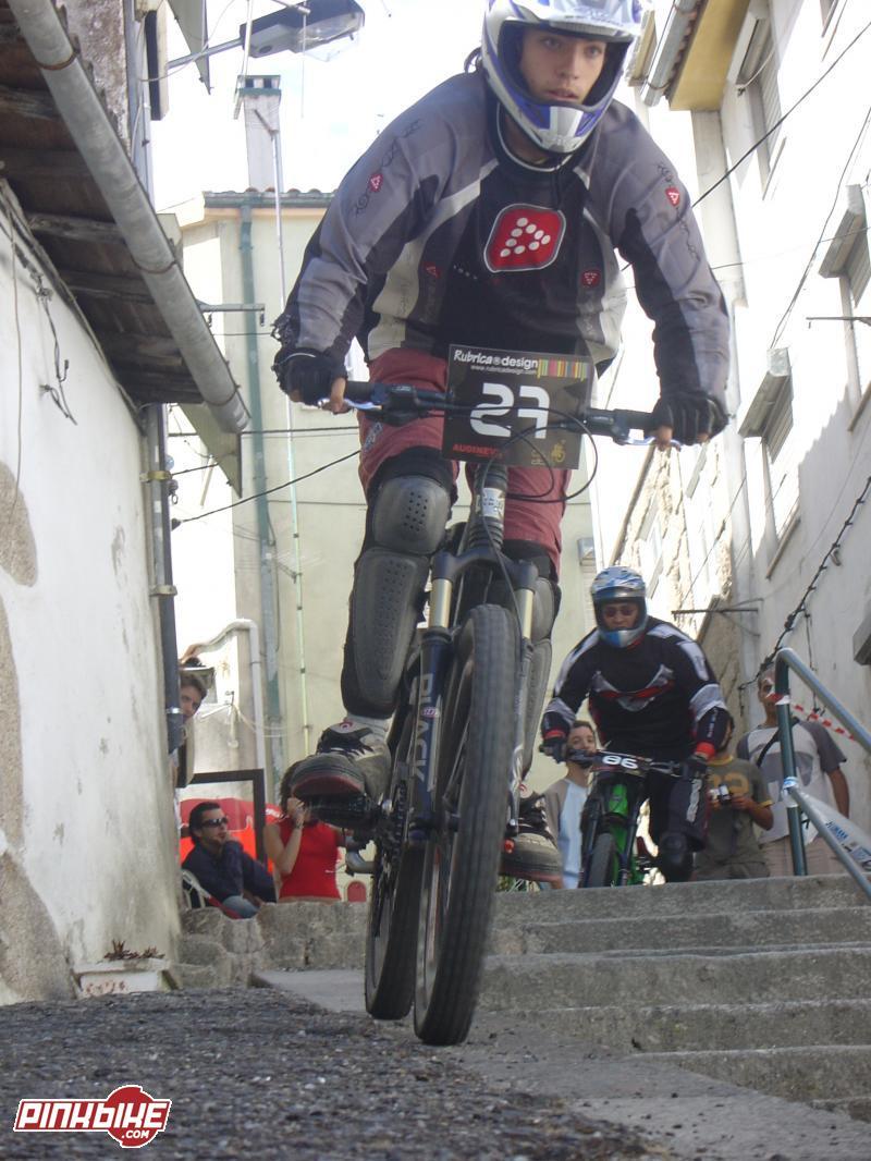 antes de dropar para as escadas