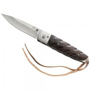 306212 lp affutages couteau puma tec lame 8,7cm acier 420 liner lock bouton ouverture une main manche 12 cm pacca avec lacet
