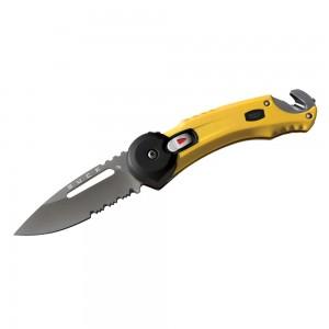 7753_YWX lp affutages Buck Redpoint Rescue lame acier 420 manche 11cm coupe ceinture brise vitre lame titanium