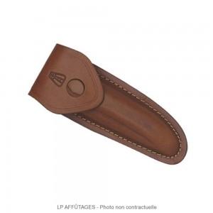 5211 LPAFFUTAGES étui cuir marron avec passant permettant le port horizontal transversal ou vertical pour Laguiole de 11 cm de manche