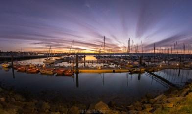 Le port de plaisance , Brest