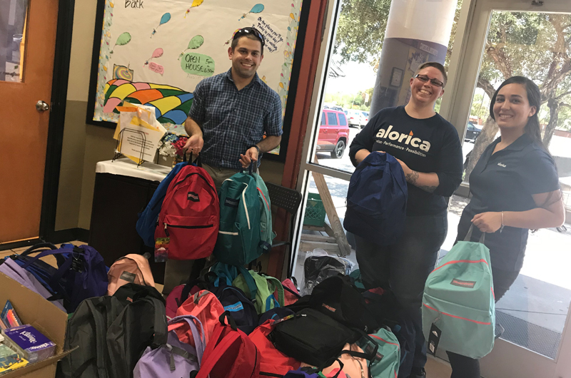 Alorica Donates Backpacks and Supplies to Lakeside