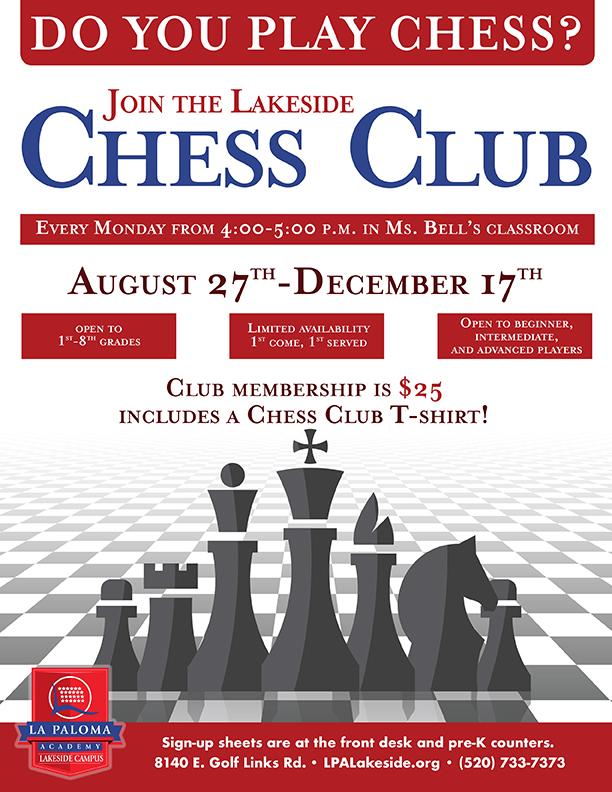 Lakeside Chess Club   La Paloma Academy