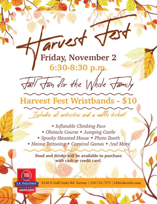 Harvest Fest | La Paloma Lakeside Tucson Charter School
