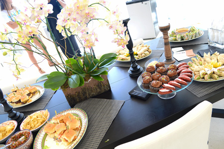 photo of tasty morsels in attractive spread at Malibu Beach House