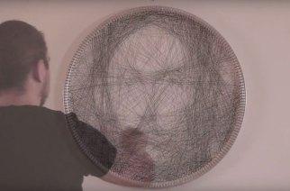 希臘藝術家Petros Vrellis新作品 以上千條直線編織出栩栩如生的人像畫