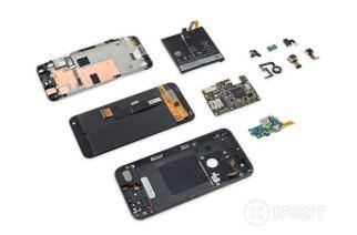 Google Pixel XL拆解:普通難修、電池上有全機唯一HTC Logo