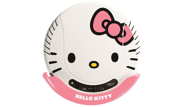 這隻凱蒂貓專吃灰:Hello Kitty掃地機器人2 in 1吸塵器在台上市