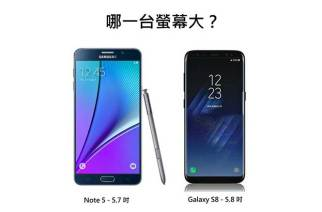 蛤?三星S8的5.8吋螢幕其實比Note 5的5.7吋還小!原來手機螢幕尺寸是這樣算的