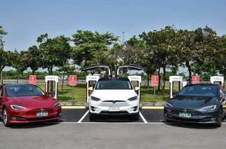 Tesla第二座超級充電站於台南奇美博物館正式啟用,台中七期下周上線營運