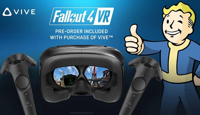 即日起,買HTC Vive免費獲得異塵餘生4 VR(Fallout 4 VR)遊戲