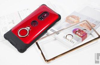 Sony XZ3專用Rasta Banana電鍍邊框透殼、防摔立式手機殼開箱 @LPComment 科技生活雜談