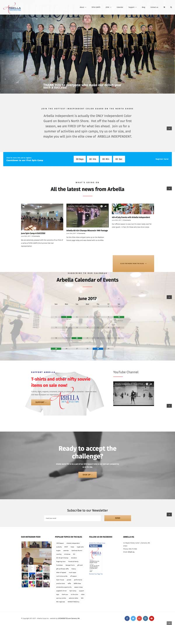 local non-profit gets website makeover danvers arbella drum bugle corps
