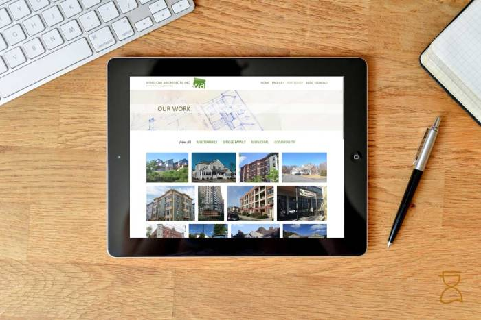 New website for architectural firm in Arlington MA