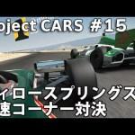 ウィロースプリングスの高速コーナー対決 【Project CARS 実況 #15】[ゲーム実況byアフロマスク]