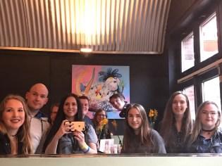 groepsfoto cafe