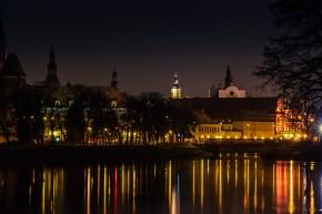 Wrocław dans la nuit