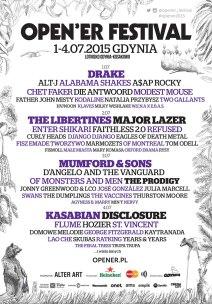 poster du Opener Festival 2016 - les artistes