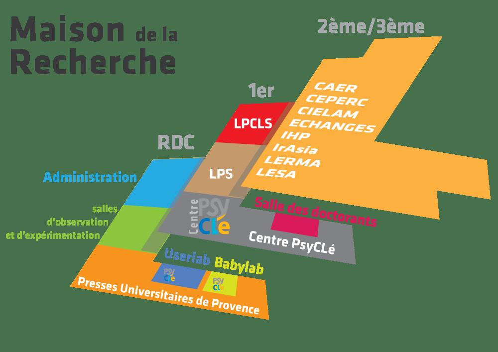 Plan de la Maison de la Recherche
