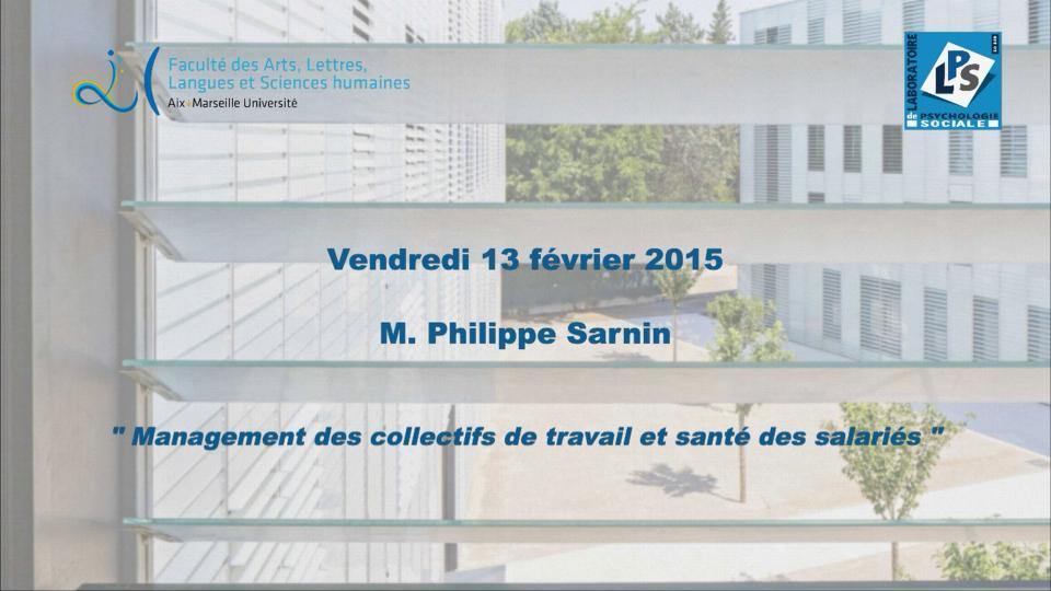 M. Philippe Sarnin