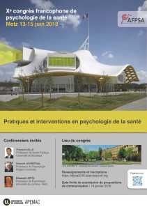 Xème congrès francophone de psychologie de la santé - Metz