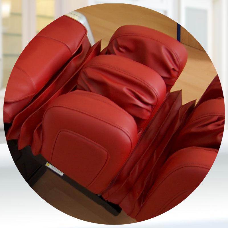 Massagesessel ELPIS EC 518: Beinlehne mit den Waden-Luftkissen