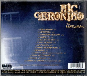 Mic Geronimo The Natural CD Back Cover