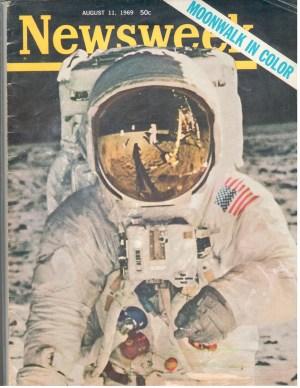 Newsweek NASA Moonwalk In Color