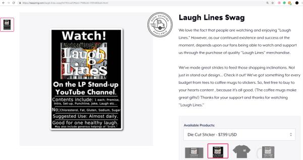 LP Laugh Lines Die-Cut Sticker