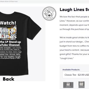 LP Laugh Lines T-shirt