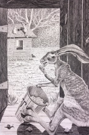 """""""Brer Rabbit Nibbles up all the Butter"""" (SOLD)"""