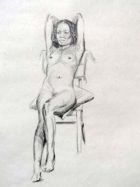Reclining nude 2. Pencil