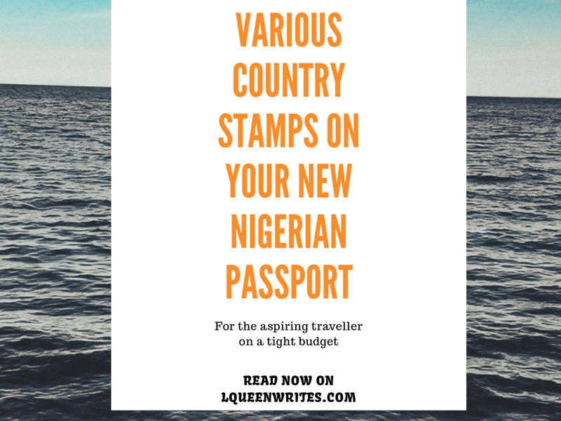 How to get Various country stamps on new Nigerian passport