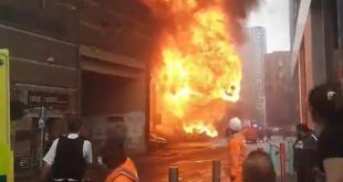 Momento da explosão