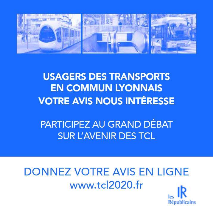 Hausse des coûts des TCL,  usagers ,votre avis nous intéresse  Donnez votre avis en ligne www.tcl2020.fr