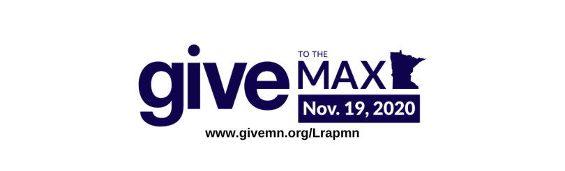 www.givemn.org/Lrapmn below Give to the Max Day logo.