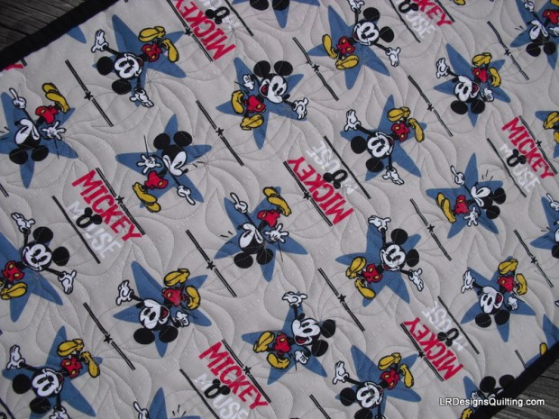Mickey Mouse backing fabric