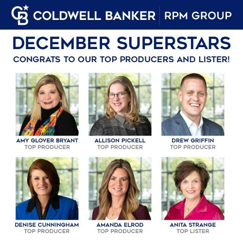 top producer photofor Coldwell Banker RPM Group in December 2020