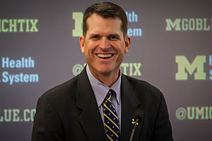 Jim Harbaugh via Wikipedia