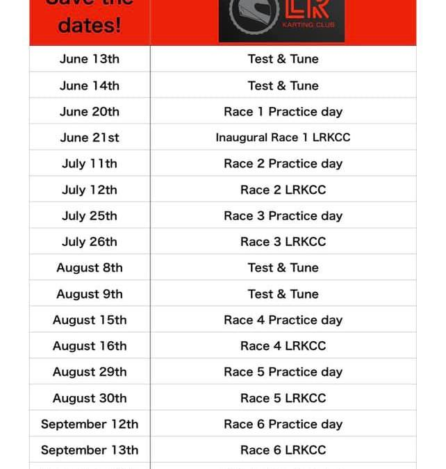 2020 Race Schedule Announced