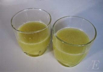 Friske Ingefær shots fra mini-juiceren.