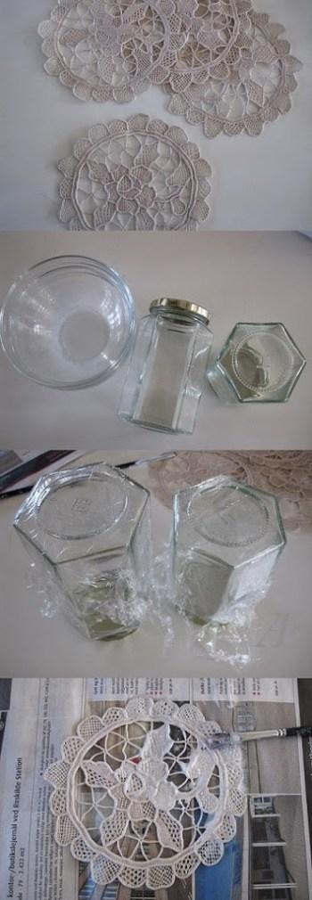 DIY-gude til nemme små skåle af mellemlægsservietter.