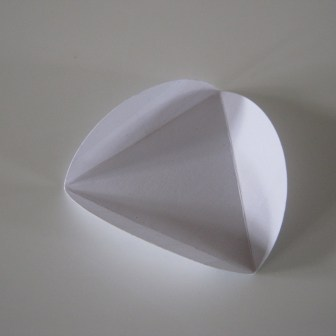 Et modul til en hjemmelavet papir bold / kugle