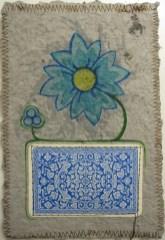 Artmoney med et blåt spillekort