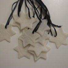Hjemmelavede julestjerner af fimo/cernit